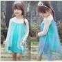 Disfraz Vestido Frozen Elsa Para Niña Halloween
