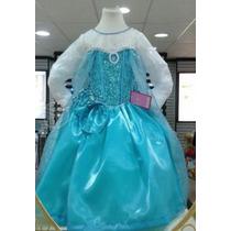 Vestido Elsa Frozen Con Peluca Y Corona