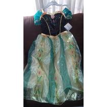 Vestido Anna De Frozen Marca Disney Store Talla 9/10 Nuevo