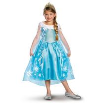 Vestido Disfraz Elsa Frozen Original Incluye Tiara