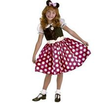 Disfraz De Minnie, Mimi Mouse Para Niñas, Envio Gratis