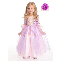Rapunzel Deluxe Princesa Vestido Y Diadema