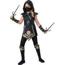 Disfraz Ninja Niña Halloween Dorado Negra