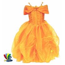 Disfraz Vestido Bella Princesa Modelo Disney Talla 4