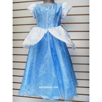 Vestido Princesa Disfraz Cenicienta Regalo Cumpleaños Niña