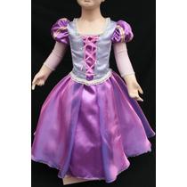 Hermoso Vestido Disfraz Inspirado En Rapunzel Enredados