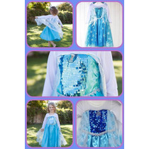 Frozen Vestido O Disfraz De Elsa