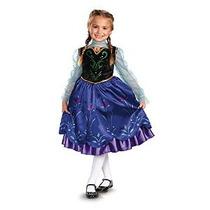 Disney Congelado Anna Costume Deluxe Disfraz Niñas Una Sola