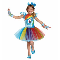 Disfraz Niña My Little Pony Rainbow Dash Talla 3 A 4 Años