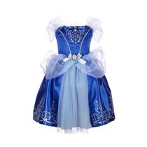 2015 Vestido De Cenicienta Nuevo Azul Ella