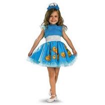 Disfraz Come Galletas Plaza Sesamo Vestido Niña Talla 3 A 4