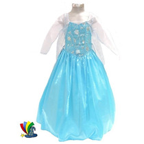 Disfraz Vestido Elsa Frozen Modelo Disney Talla 6