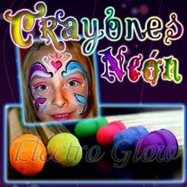 Crayones Pintura Fluorescente Neon Maquillaje Disfraz Glow