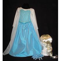 Disfraz De Lujo Princesa Elsa Frozen Envio Gratis