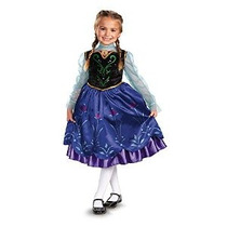 Disfraz De Frozen Anna Deluxe Chica Disney Disfraz 07.08