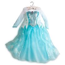 Vestido Reina Elsa Frozen Original Disney Store Talla 4