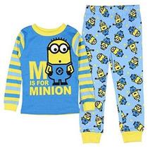 Despicable Me Minion Niños Pequeños Niño Algodón Pijama Set