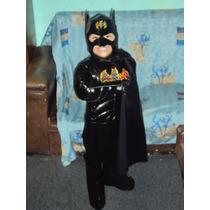 Traje De Batman Cuerpo Pans Guantes Capa Y Mascara Para Niño