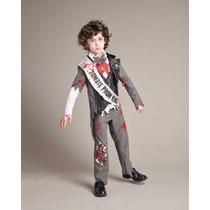 Disfraz Zombie Halloween Dia De Muertos Talla 6 A 14