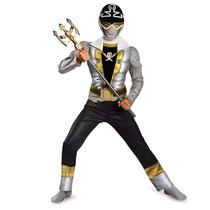 Disfraz Niño Musculoso Power Ranger Silver Super Mega Force