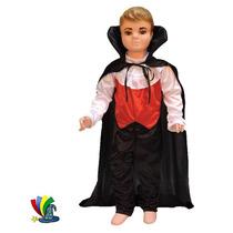 Disfraz Vampiro Niño Dracula Halloween Talla 4