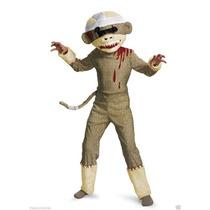 Disfraz Mono Chango Zombie Sock Monkey Niño Talla 7 A 8 Años