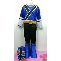 Disfraz Tipo Power Ranger Samurai Rojo Azul Verde