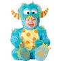 Disfraz Halloween Mounstro Lila Bebe Talla 6meses A 4 Anios