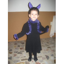 Bonito Disfraz Gatita Negra- Disfraces Halloween Gato