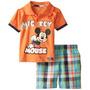 Disney De Los Bebés De 2 Piezas Mickey Mouse Jersey Polo Set
