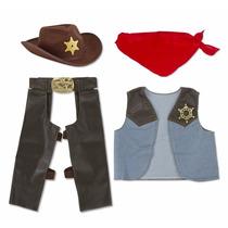 Disfraz De Vaquero Para Niños Con Accesorios Cowboy