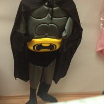 Disfraz Infantil Batman En Color Gris O Negro
