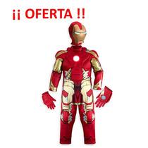 Disfraz Iron Man Con Luz Original De Disney!!! Talla 7/8