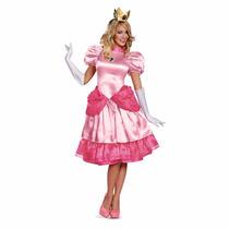 Disfraz Mujer Adulto Princesa Peach Super Mario Bros