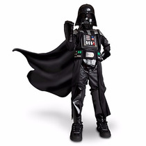 Disfraz Star Wars Dark Vader C/luz Disney Store 2015 T 7/8