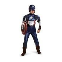 Disfraz De Capitán América Musculoso Tws Piñata Fiesta
