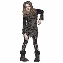 Disfraz Para Niñas De Zombie Halloween Living Dead
