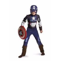 Disfraz Niños Súper Héroe Capitan America Traje Clasico