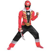 Disfraz Power Ranger Super Megaforce Rojo 7/8 Años Entrega I