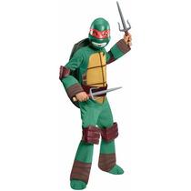 Disfraz Talla 10/12 Tortugas Ninja Leonardo De Lujo Niño