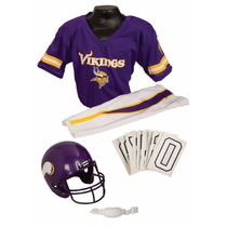 Uniforme / Disfraz De Nfl Super Bowl Vikingos Para Niños