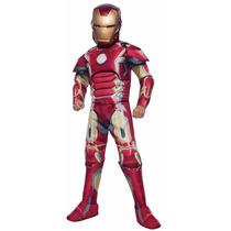 Traje Disfraz Niños Súper Héroe Iron Man Pelicula Avengers