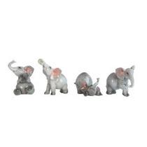 Conjunto De 4 Surtidos Bebé Elefantes Animales - Estatuas De