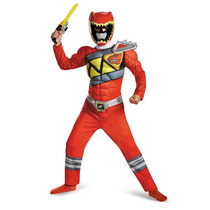 Disfraz Power Ranger Dino Charge Musculos Rojo Ninos Importa