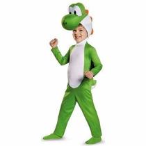 Disfraz De Yoshi De Mario Bros Para Niños, Envio Gratis
