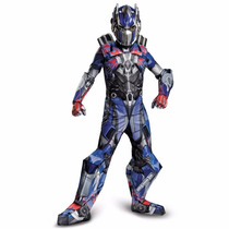 Disfraz Niños Transformers Super Lujo Optimus Prime!!