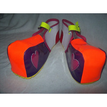 Gcg Zapatos De Payasa Para Niña Naranja Numero 21