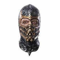 Cosplay Mascara Mortal Kombat Deluxe Overhead Scorpion