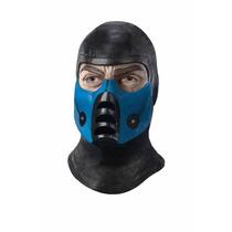 Cosplay Mascara Mortal Kombat Deluxe Overhead Subzero