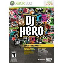Dj Hero Xbox 360 Nuevo Solo Videojuego Blakhelmet